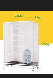 (New!) big spacious pet cage thick frame 4 tier