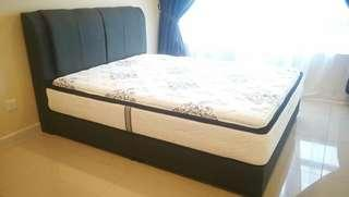 12inch Pocket Spring Mattress + Luxury Bed Frame