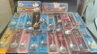 Antique collectible silver spoon