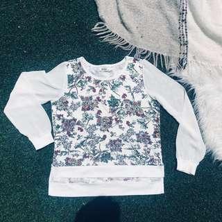 Floral Sweater / Sweatshirt / Top / Patterned (SEED)
