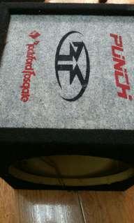 美國 Rockford Punch 12吋原裝低音喇叭箱