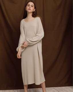 [洋裝]Meier Q 針織洋裝(咖橘)