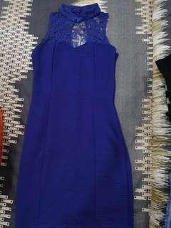 Blue lace Cheongsam