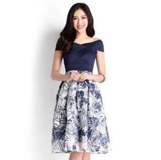 🚚 Lilypirates Lady Enchantress Dress in Oxford Blue