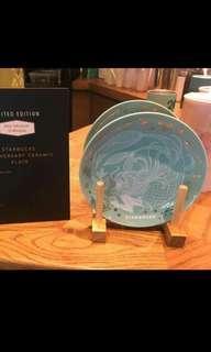 🚚 Starbucks Malaysia Limited Edition Anniversary Ceramic Plate Siren
