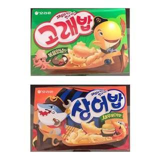 🚚 韓國進口Orion小魚脆脆餅乾160g(兩種口味)