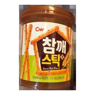 🚚 韓國進口青佑芝麻棒餅乾220g