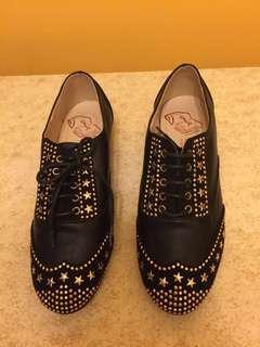 韓國SPUR黑色金釘鞋 全新 size24 (eur37)