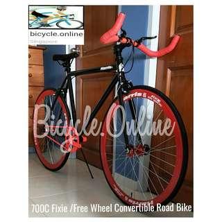 Fixie / Free Wheel Convertible Road Bike * Harris 700C * Flip Flop Hub * Dual Brakes ☆ Brand New Bicycle