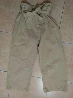 🚚 綁帶鬆緊寬褲