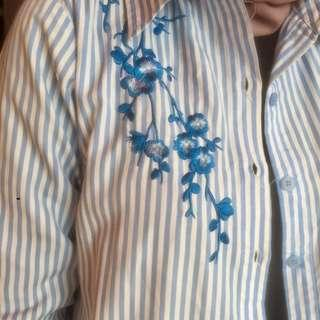 #PayDayMaret Zara look a like Stripes Flower Shirt