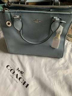 Coach Leather Bag (light blue)