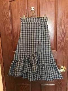 🚚 格子魚尾裙