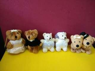 ($8 each pair) Wedding Bears