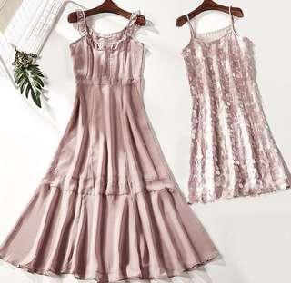 2 Piece Sequin Bodycon / See Through Sleeveless Dress