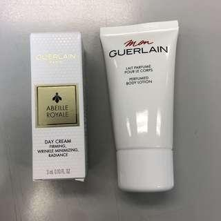 Guerlain Paris Day Cream & Body Lotion sample