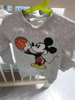 H&M Mickey Mouse sweater.
