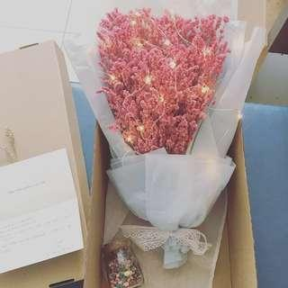 「Exclusive Galaxy」🌹Korean Dried Flower Bouquet➕flower box➕greeting card✨with/without fairy lights