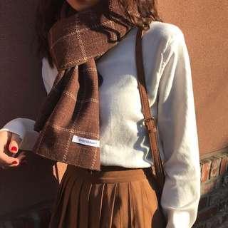 🚚 復古格紋圍巾#半價衣服市集