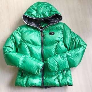 平讓 瑞士 Kjus 90% Down Jacket 綠色鵝毛羽絨褸 38碼