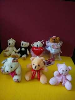 (All for $15) Mini Soft Toy Bears