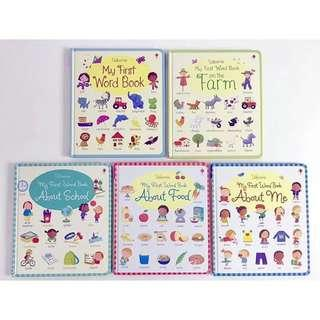 🚚 Usborne My First Word Book Board book | About Food | on the Farm | About Me