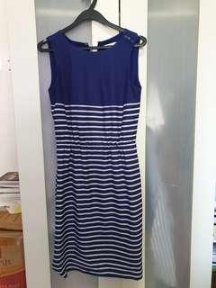 Espirit Blue Striped Dress