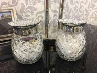 Luxury Glossy Silver Glass Display