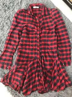 Red Flannel dress/shirt (comes with a belt)