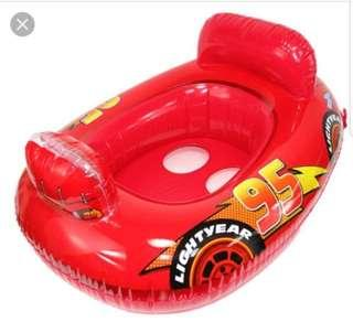 Lightning McQueen baby swim float