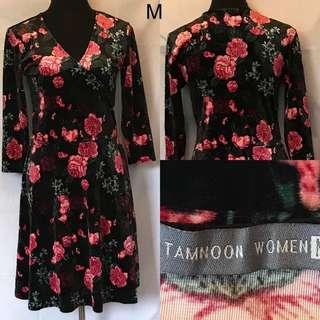 PF - Floral velvet dress