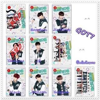 「K-Pop」GOT7 - 水晶卡貼 ( 散買 )