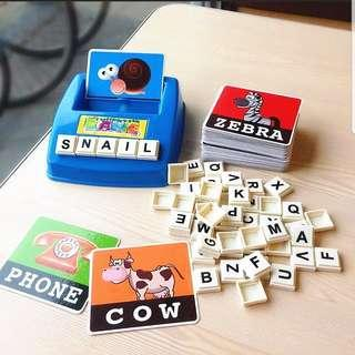 Alphabets Learning Memory Training Educational Teaching Tools Puzzles Game