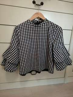 Doublewoot checkered blouse