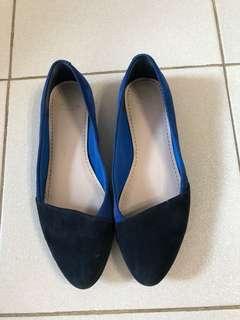 Clarks Blue Flat Shoes