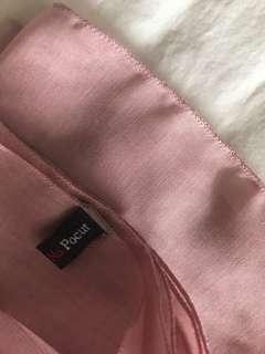 hijab paris jepang square scarf scarves napocut dusty pink