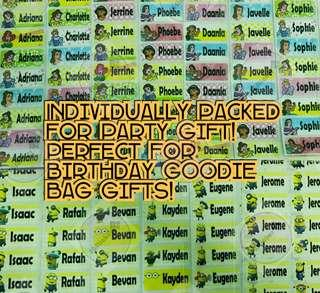 🚚 Name stickers for Birthday Goodie Bag Gift