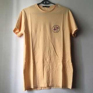Friend or Faux Yellow Tee