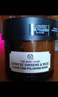 Masker the body shop chinese ginseng&rice clarifying polishing