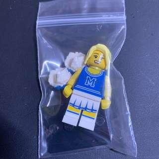 全新Lego 8683 Collectible Minifigures Series 1 Cheerleader 啦啦隊 2號