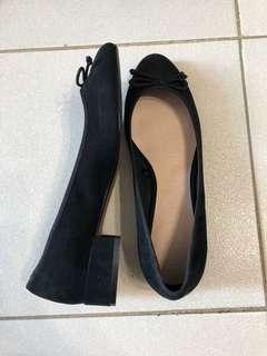 Mango Low heeled shoes with ribbon