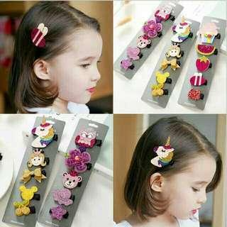 *FREE POST to West Malaysia only / Ready stock* Kids gal 5pcs set hair accessories each as shown design / color. Free delivery applied for this item.