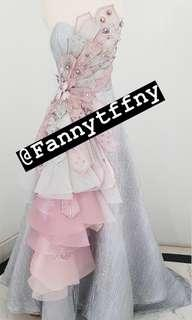 Grey-Pink Party Dress