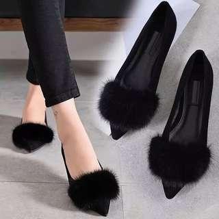 黑色平底鞋