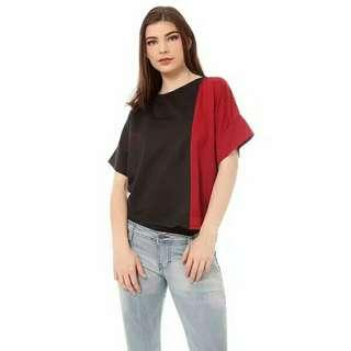 Two tone vasthi tops black