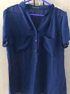 Dark Blue Blouse The Executive