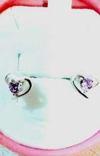 925銀水晶耳環