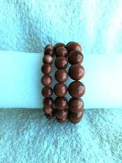 🚚 (Up to 22% Off) Natural Goldsand / Gold Sand Bracelets 天然的金沙手链