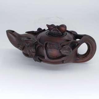 木雕茶壼 woodcarving of tea pot
