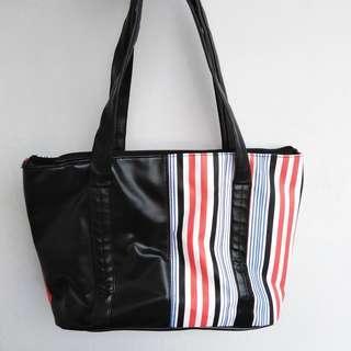 Black Bag with Stripes